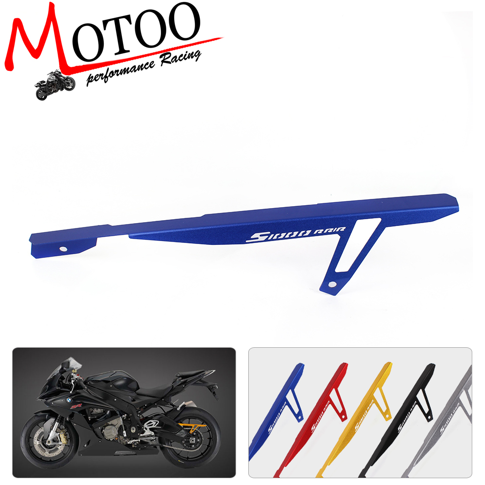 Motoo - free shipping CNC Aluminum Motorcycle Cover Protector Rear Chain Guard For BMW S1000RR 2010-2016 S1000R 2014-2016 magnit rmm 2222