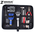 2014 Free shipping 18/set New High Quality Practical table tool watch repair tool kit clock kit strap down the bottom opener