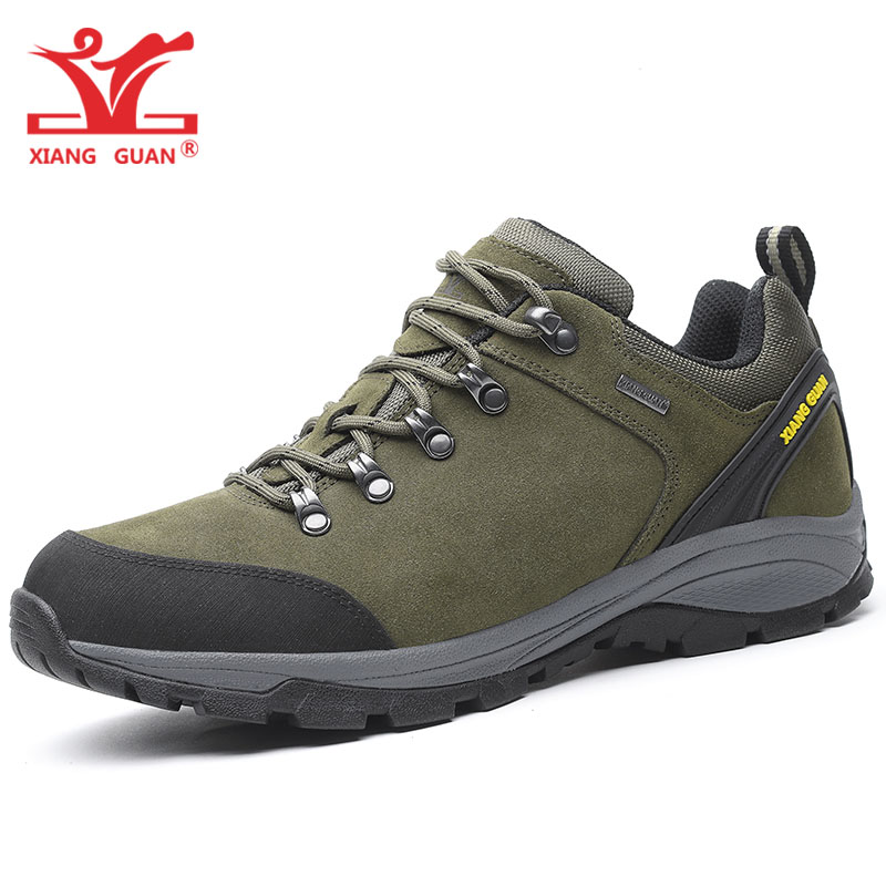 Man Hiking Shoes Men Genuine Cow Leather Trekking Boots Waterproof Hunting Climbing Mountain Shoe Sport Outdoor Walking Sneakers man hiking shoes men outdoor camping tactical boots designer snow waterproof sport climbing mountain hunting trekking sneakers