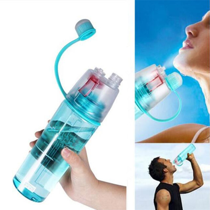 400ml/600ml Spray Water Bottle Outdoor Sport Cycling Bicycle Bottles Portable Fitness Kettle Climbing Drink Water Bottle