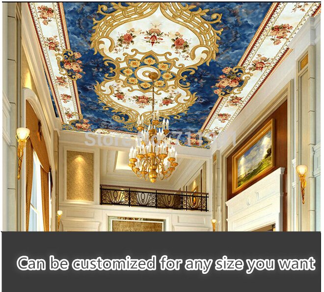Custom 3D wallpaper mural wallpaper pattern of European style ceiling living room backdrop wallpaper embossed pattern material