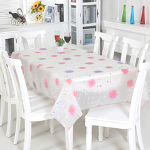 Pastoral Style Home Oilproof Table Cloth Plastic Tablecloths for Weddings Waterproof Durable Tablecloth Linen