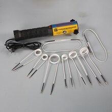 El yüksek frekanslı Mini indüksiyon alevsiz ısıtıcı 1000W 60KHz 8 ısıtma bobinleri 220V/110V