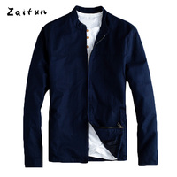 ZAITUN Brand Men Linen Jackets Summer Spring Thin Slim Stylish Stand Collar Casual Business Luxury Design