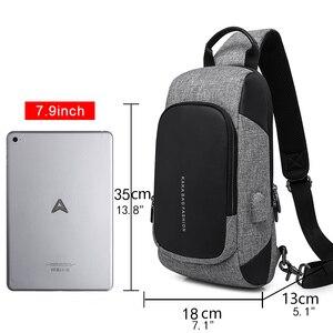 Image 3 - KAKA 럭셔리 브랜드 가슴 가방 USB 메신저 크로스 바디 가방 어깨 슬링 가방 방수 짧은 여행 휴대 전화 가방