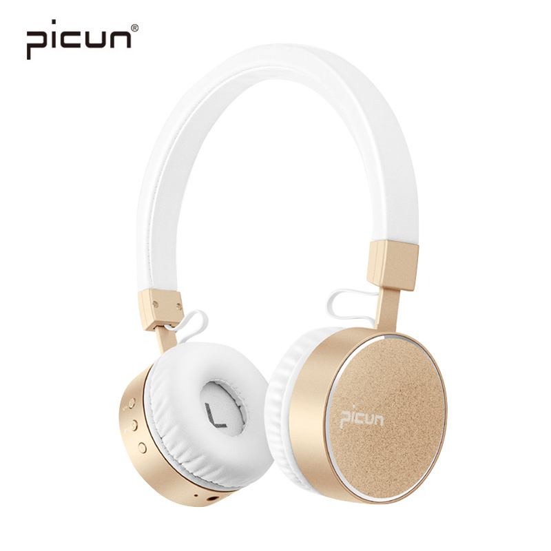 Picun Bluetooth Headphones HIFI Stereo Bass Wireless Earphones Sport Headsets Smart Music Headphone with Mic For iPhone Samsung цена