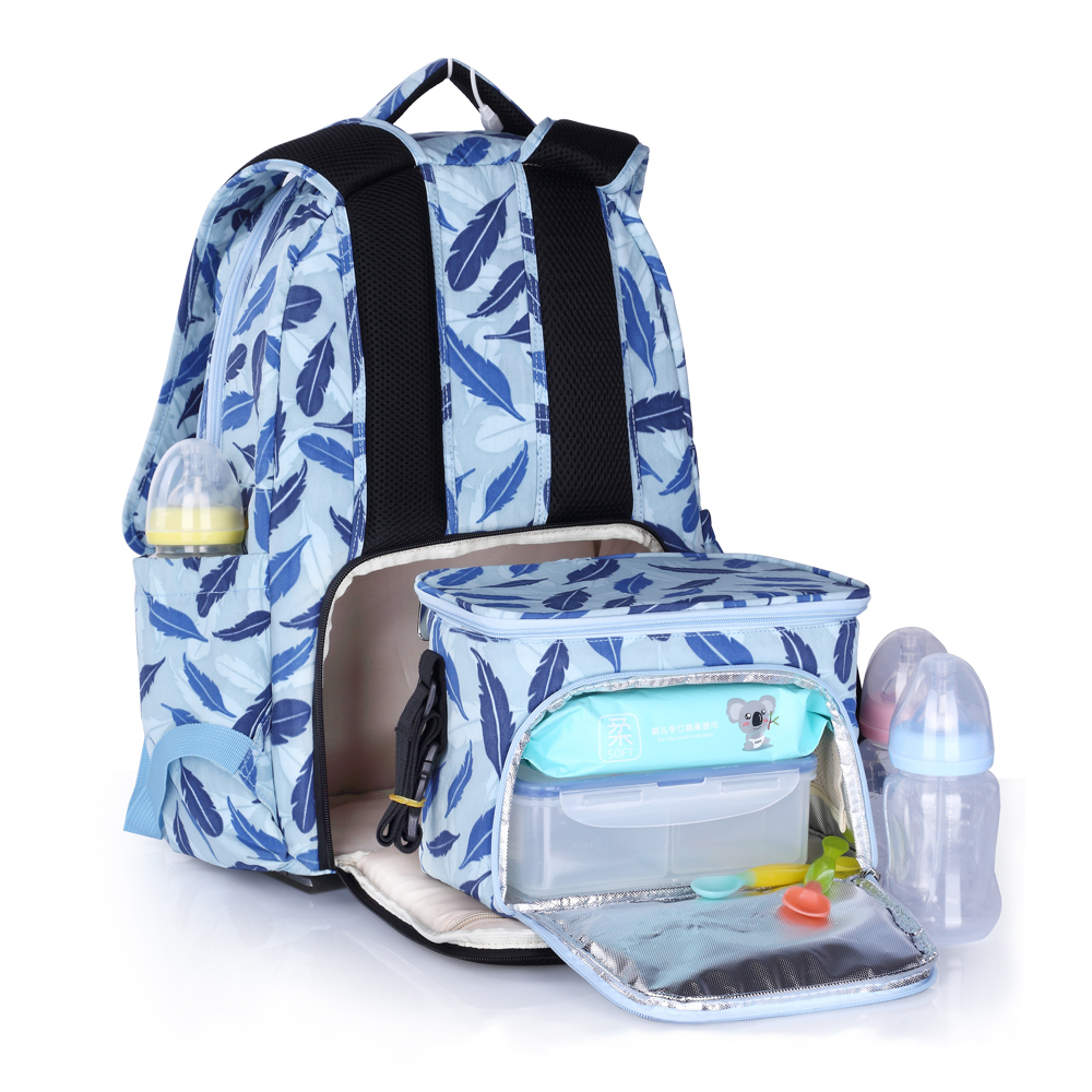 ABWE Best Sale INSULAR Mother Bag Baby Nappy Bag Large Capacity Maternity Mummy Diaper Backpack with Thermal Insulation Diaper