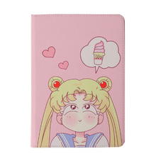 Sailor Moon Patterned Case For Xiaomi Mi Pad 4 10.1 inch Cover Auto Sleep Wake Leather Silicone Soft Cover For MiPad 4 Plus leather case for xiaomi mi pad 4 mipad4 8 inch tablet case stand support for xiaomi mi pad4 mipad 4 8 0 case cover two style