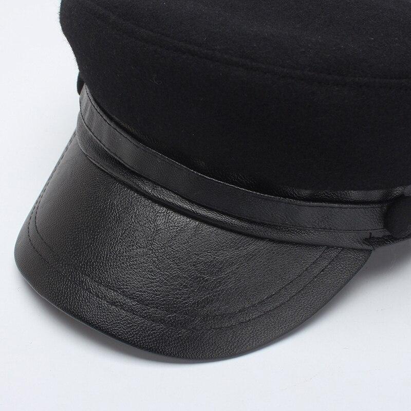 2018 sombrero negro Otoño Invierno militar gorra Marina mujeres gorros mujeres  gorras hombres invierno sombreroUSD 26.43 piece e432f1990f3