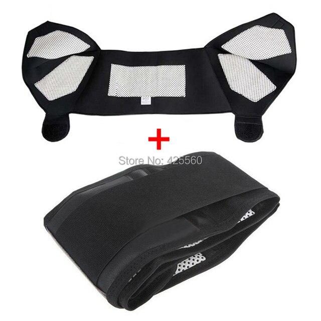 Tourmaline Self Heating Magnetic Therapy Waist Belt & Shoulder Pad Support Tourmaline Waist Belt Massage