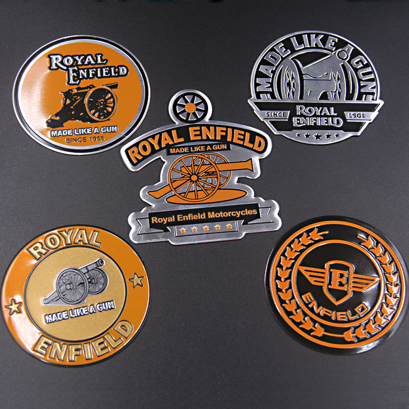 Royal Enfield Motorbike Emblem Badge aluminum standard high quality Decal & sticker for  ...
