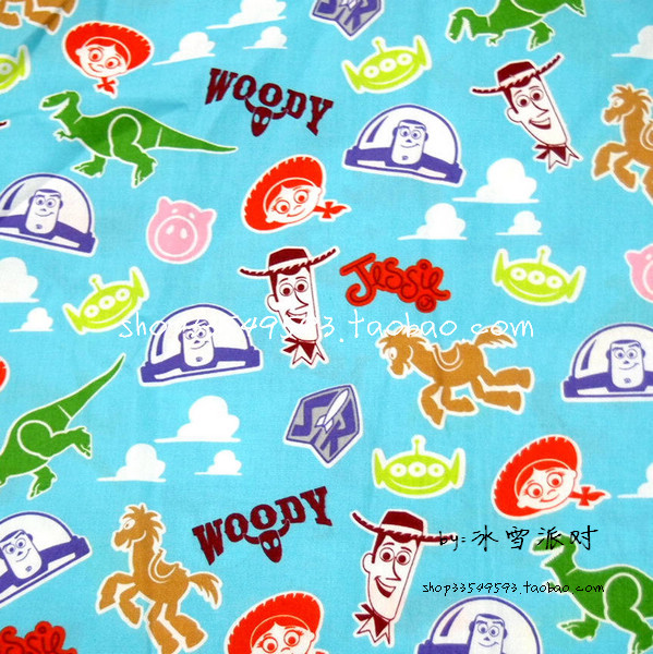 50 140cm cartoon toy story series fabric patchwork cotton for Kids character fabric