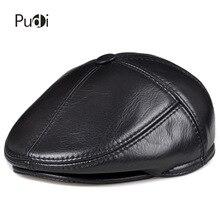 Casquette de baseball pour hommes en cuir véritable, chapeau CBD de haute qualité, à la mode, chaude pour lhiver, HL093 F