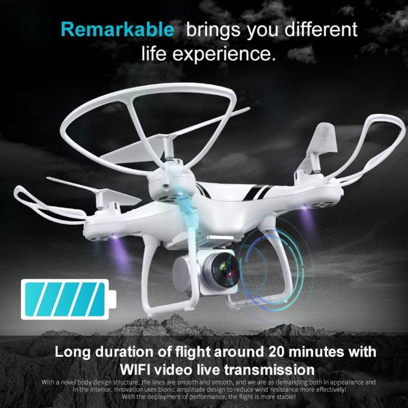 KY101 RC Drone WiFi FPV HD 0.3MP Camera 4CH 6 Axis Gyro Altitude Hold One Key Return/Take Off Headless Quadcopter Drone jmt cg030 foldable 0 3mp camera drone wifi fpv 6 axis gyro altitude hold headless rc quadcopter mini drone app control rc dron