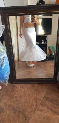2018 Женская юбка-американка в стиле русалки, 1 слой, юбка-американка из тюля с оборками для невесты, свадебные аксессуары