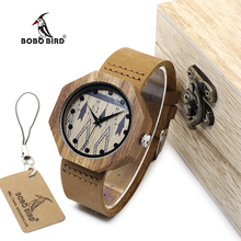BOBO de AVES WD04 Entorno amigo madera relojes Antiguos Hechos A Mano De Madera de Las Mujeres de los hombres Relojes de Pulsera Como Regalo