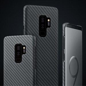 Image 3 - 炭素繊維ケース三星銀河S20超S10プラスS8 S9プラス注10注9 20マットアラミド繊維超薄型携帯電話のカバー