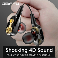 Double Unit Drive In Ear Earphone Bass Subwoofer for Xiaomi Phone DJ Mp3 Sport Earphones Headset Earbud Auriculares
