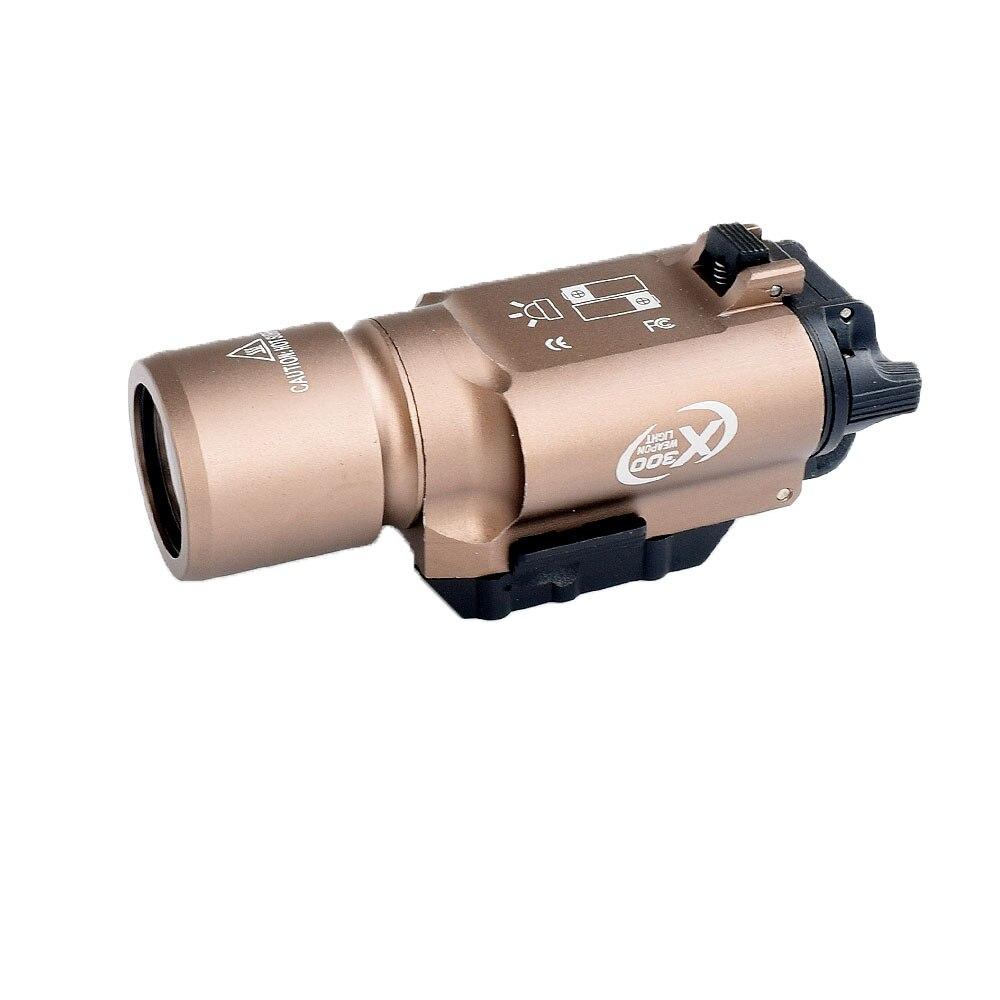 WIPSON tactique X300 lampe de poche étanche arme pistolet à lumière pistolet lanterne fusil Picatinny tisserand monture pour la chasse - 3