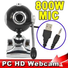 Telephone Operator Desktop HD Webcam 80 Megapixel USB PC Digital Web Cam Camera with Mic Microphone for Computer , Black
