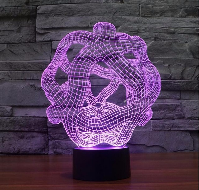 Us 17 99 Peculiar 3d Abstract Shape Led Table Lamp Art Sculpture Lights Adornment Room Led Night Light Lamp As Office Decoration In Night Lights