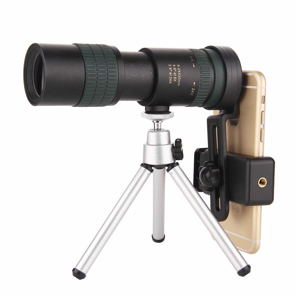 Original Binoculars Nikula 8-24X30 Zoom Monocular Precise Telescope Pocket Binoculo Hunting Optical Prism Scope No Tripod Newest