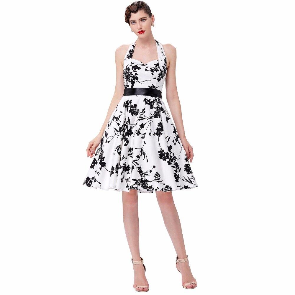 Frauen Kleider Audrey Hepburn Retro Rockabilly 1950 s Vintage Kleid ...