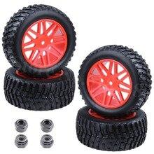 4pcs Lot Rubber 2 2 inch font b RC b font Rally Truck Tires Plastic Wheel