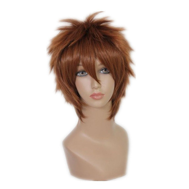 Cosplay Wig NARUTO INUZUKA KIBA Brown 30cm Short Natural High Quality  Synthetic Anime Full Hair