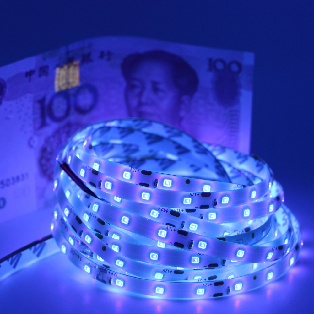 New uv black light led strip 3528 smd 60ledm 12v nonip65 new uv black light led strip 3528 smd 60ledm 12v nonip65 waterproof purple ultraviolet ray led flexible tape rope ribbon light in led strips from lights aloadofball
