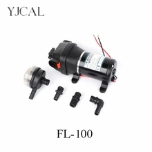 Water Booster Fountain FL-100 12v 24 High Pressure Diaphragm Pump Reciprocating Self-priming RV Yacht Aquario Filter Accessories fl 32 220v 110v high pressure mini rv yacht family water self priming diaphragm pump reciprocating filter accessories automatic