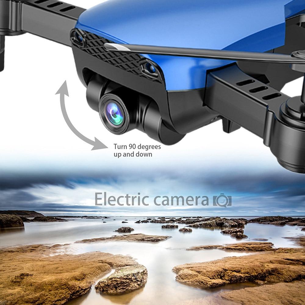 Teeggi M69 FPV Drone 4K with 1080P Wide-angle WiFi Camera HD Foldable RC Mini Quadcopter Helicopter VS VISUO XS809HW E58 X12 2