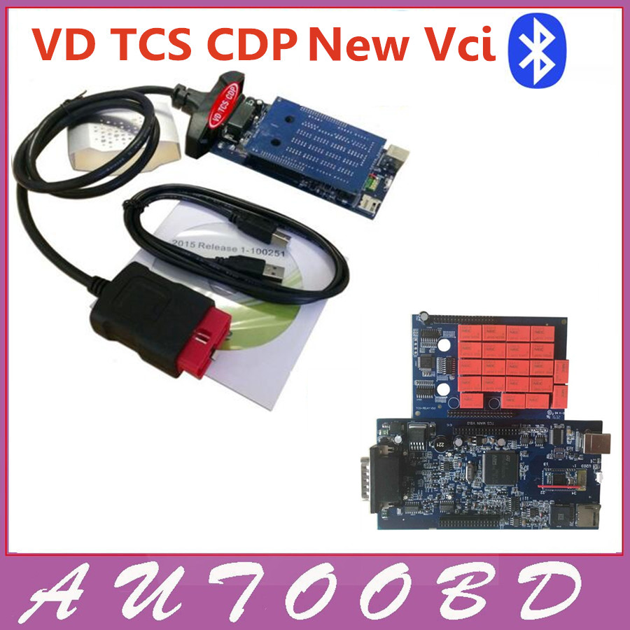 10pcs+DHL Free Double Blue PCB VD tcs cdp Bluetooth 2014R2 keygen 2015.3 with keygen in CD OBDII cars trucks diagnostic tool new arrival new vci cdp with best chip pcb board 3 0 version vd tcs cdp pro plus bluetooth for obd2 obdii cars and trucks