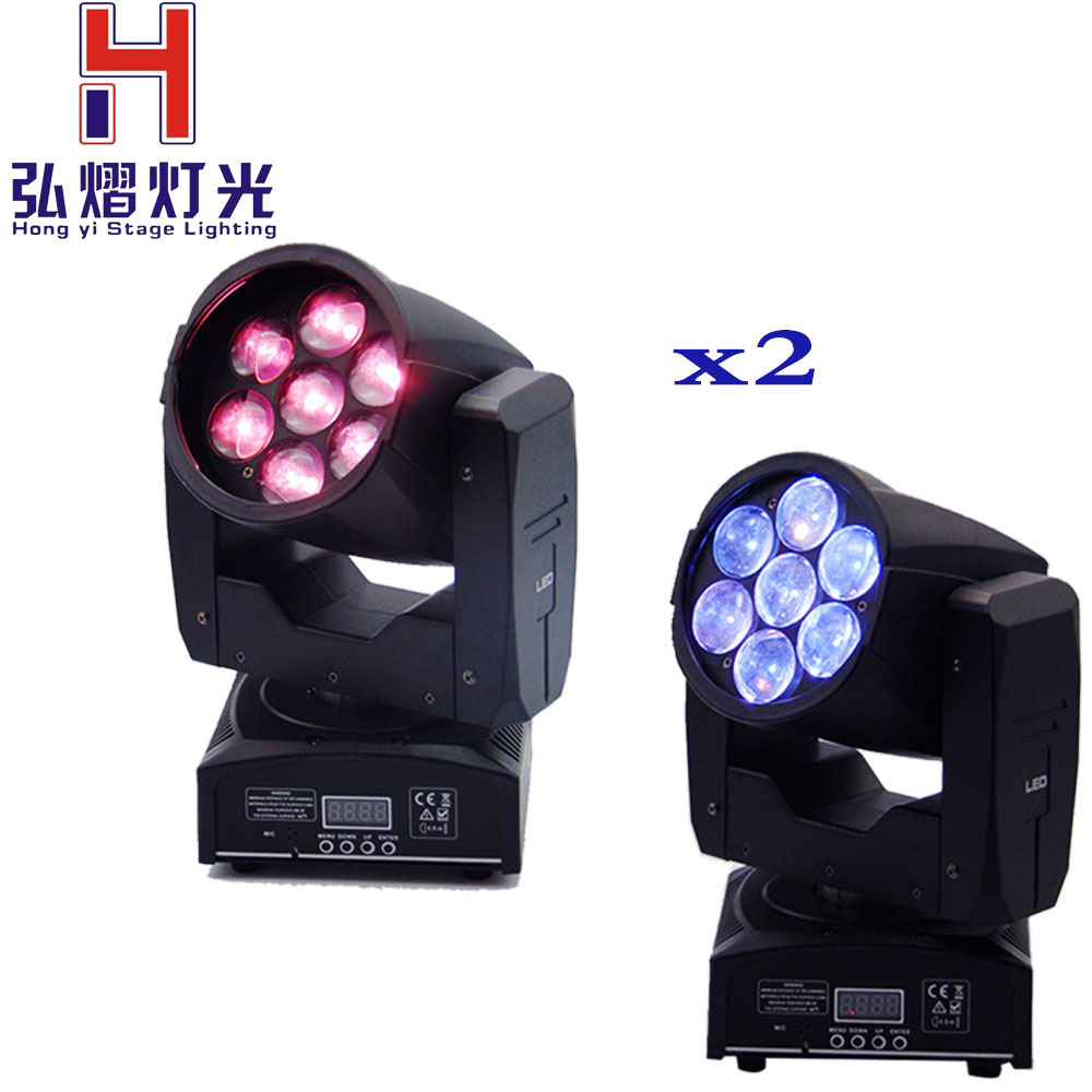 2pcs/lot Dimmable Moving Head Light Washer 7x12W PAN/TILT 540/190 16 ch Stage2pcs/lot Dimmable Moving Head Light Washer 7x12W PAN/TILT 540/190 16 ch Stage