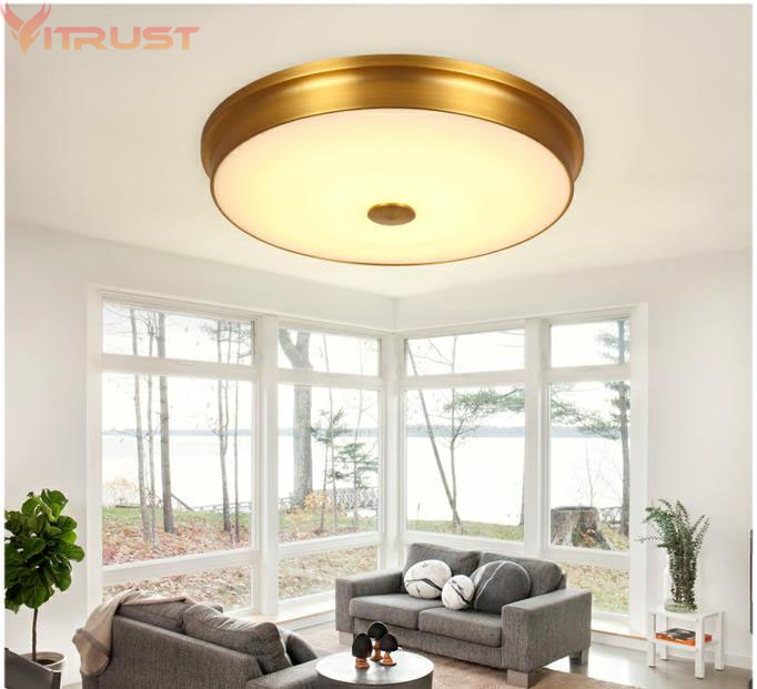 Vitrust Ceiling Lamps Corridor Lights Avize luminaria led Copper Lighting Fixture Verlichting Living room Kitchen Bedroom Study