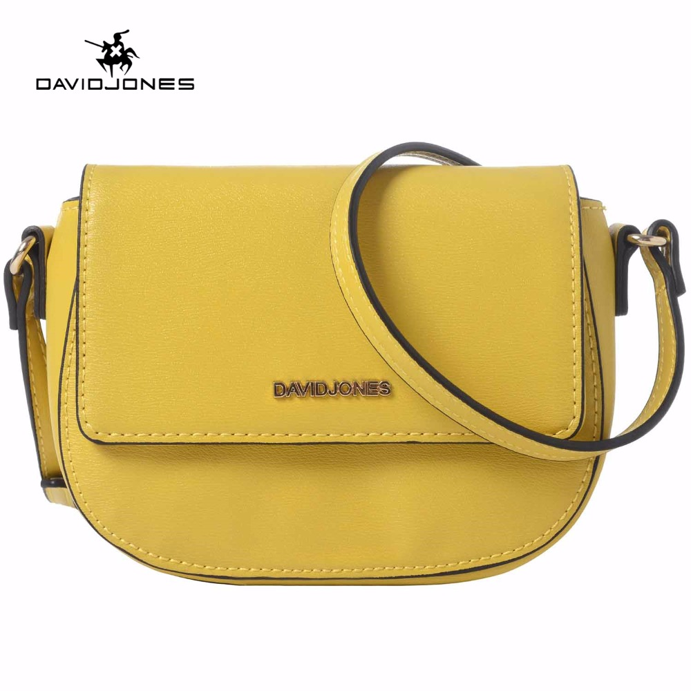 DAVIDJONES women handbag pu leather female shoulder bags small lady phone messenger bag girl brand crossbody bag drop shipping
