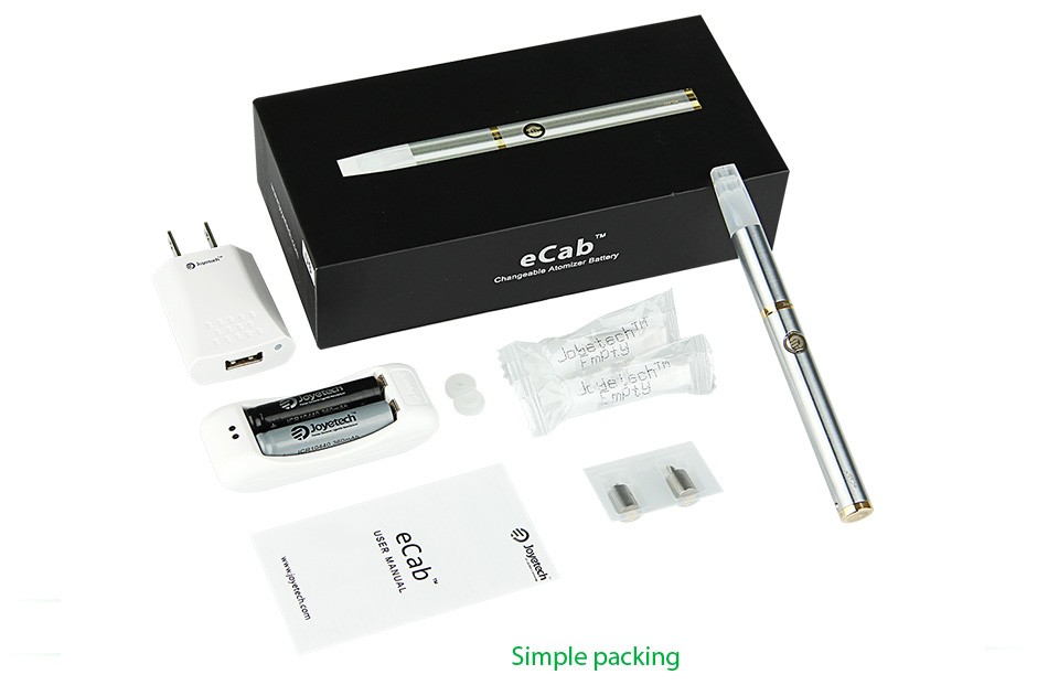 Joyetech eCab Changeable Atomizer Battery Starter Kit - 720mAh4