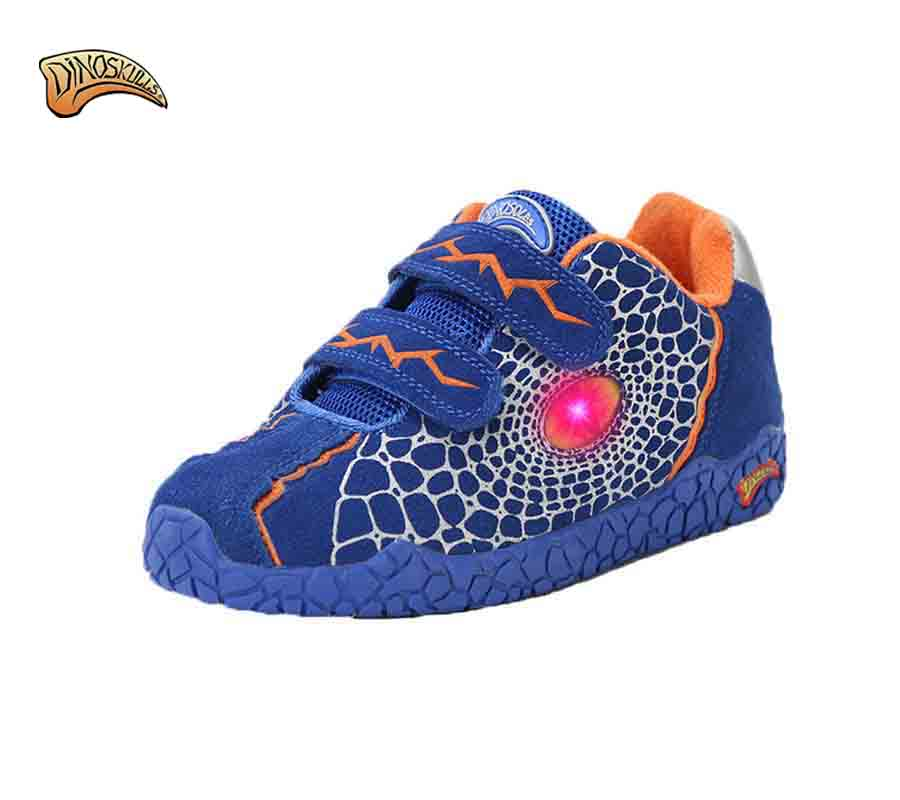 Dinoskulls Brand 3D Dinosaur Boys Lighted Casual Shoes Children Sport Outdoor Cotton-Padded Shoes Winter Fashion Warm shoes