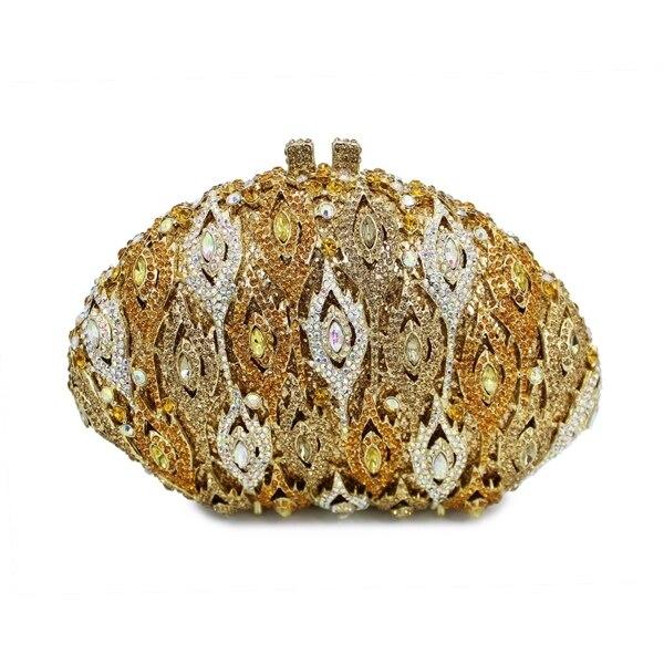 4d4767bc63d elegant wedding clutch bag ladies fancy hand purse crystal evening bag  (88138A-G)