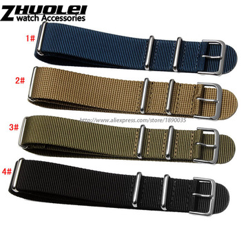 New Arrived wholesale 18mm 20mm 22mm 24mm nylon watchband waterproof Straps ,sport wrist NATO watch band Multi color for choose
