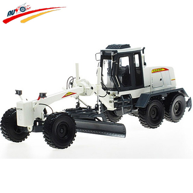 Alloy 1:35 Motor Grader Diecast Model with Articulated Steering Blade Rotates Rear Ripper Raises and Lowers