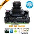 H.265 Sternenlicht 3MP 3516C + Sony IMX291 Intelligente analyse IP Kamera Modul mit Sternenlicht Objektiv IP kamera bord ONVIF XMEYE
