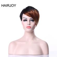 HAIRJOY красочные челки короткие прямые термостойкие синтетические волосы женские вечерние косплей парик 8 цветов