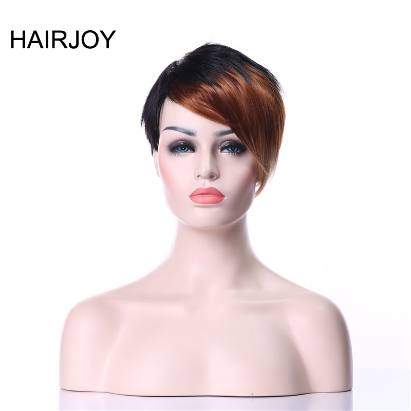 HAIRJOY Colorful Bangs Short Straight  Heat Resistant Synthetic Hair Woman Party Cosplay Wig 8 Colors Available Free Shipping
