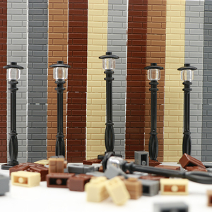 Image 2 - City Building Blocks Street Light Road Lamp Friends House Wall Accessories Pieces Mni Toys Military Bricks