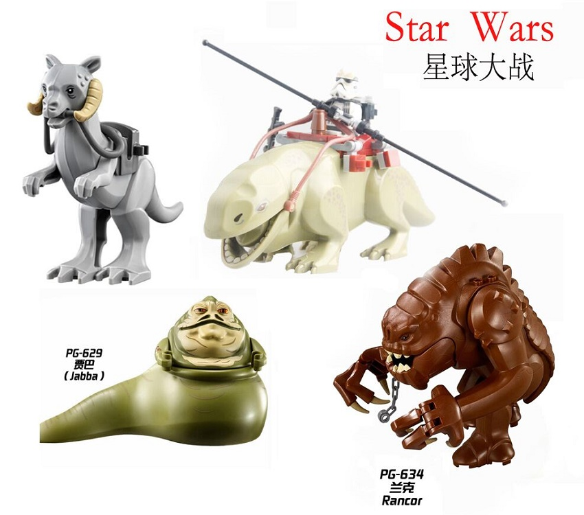 Single Sale Super Heroes Star Wars Legacy Collection Jabba's Rancor Smaug Tauntaun Building Blocks Bricks Toys for children Gift single sale super heroes x men white yellow red deadpool bricks set model building blocks collection toys for children x0101