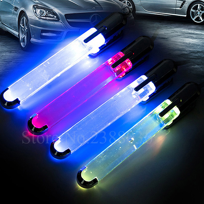 4pcs 12V Colorful Car Interior Floor Atmosphere Light  Auto Floor Strip Lamp Car Interior Neon Lights Ремень безопасности