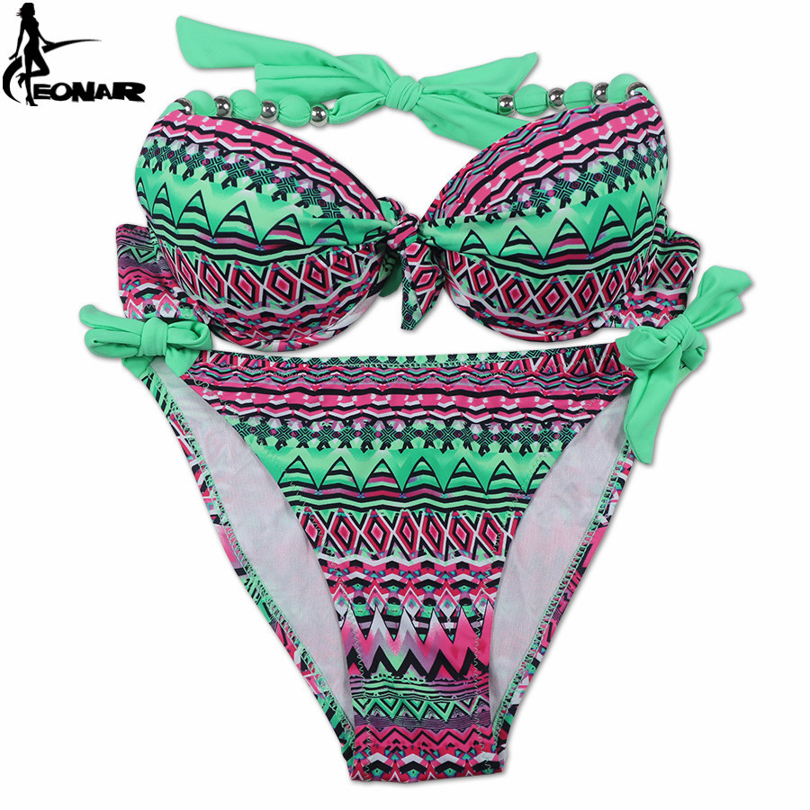 EONAR Bikini 19 Offer Combined Size Swimsuit Push Up Brazilian Bikini Set Bathing Suits Plus Size Swimwear Female XXL 26