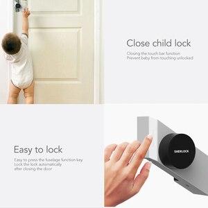 Image 5 - Sherlock serrure de porte intelligente Bluetooth, empreinte digitale et mot de passe, sans clé, serrure électronique intégrée Bluetooth, application pour téléphone