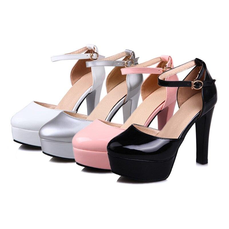 Scarpe tacco donne 43 Autunno eleganti donne delle Size le Nero Rosa Argento con per Scarpe Bianco alto tacco Big alto Primavera con Doratasia 34 2019 xPEwqt0H